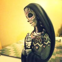 Day of the Dead statue by JarrodJawless