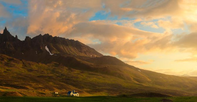 Iceland at Sunset by Printing-Services