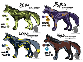 Wolves adoptables 19 _CLOSED_ by thelunapower
