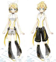 the twins rin and len by element-dragonx