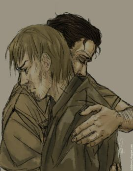 Daryl gets a hug by Falballa