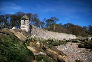 Ravenscraig Castle Defence Wall With Lookout Point by tamaskatai