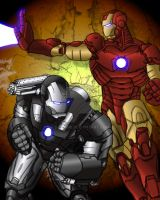 iron man and war machine by D-Stone