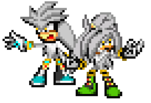 Silver The Hedgehog And Steel The hedgehog by HansTheHedgehog1314