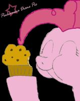 Pinkie eat muffin by Omolonuem