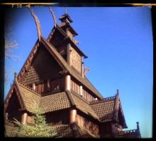 Stave Church by inthisabyss