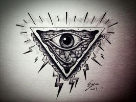All seeing eye - My style by Eason41