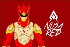 armored Nusa-Red Wallpaper by IshaMuhammad