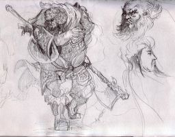 Warrior_pencils by kingmong