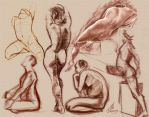 Figure Drawing Collage by Bamfette