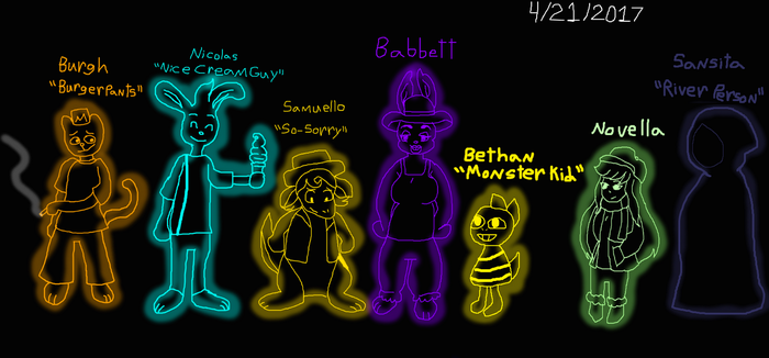 Novella And UT Extras With Fan Names by Elzathehedgehog