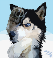 Wolf Vector by Slaizen