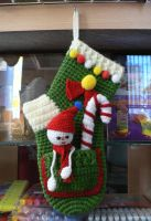 Amigurumi Christmas Socks by GirlOfTheOcean