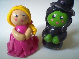 Wicked: Glinda and Elphaba by Joy-Pedler