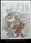 The Dark Knight and Robin by patrickballesteros