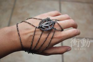 Gunmetal Slave Bracelet by shoudoumagic