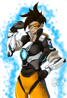TRACER fanart by OSuKaRuArT