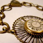 Time Travelers Clock Bracelet by SteamSociety