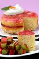 Rhubarb Upside Down Cake 1 by bittykate