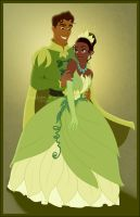 Tiana and Naveen by madam-marla