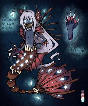 Abyssal Fish Custom Adopt by CyberDreamer25
