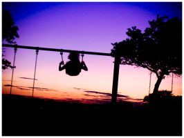 Sunset on the swings by RedlineGT