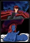 Magneto and Mystique by adamantis
