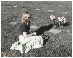 Lisa At Mother's Grave by skoticus