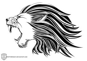Lion Head Tribal by KryptnKnight
