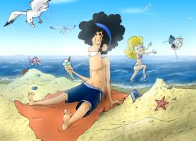 A day on the beach by tyokio
