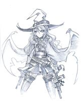 Witch and Gun by hmongt