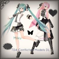 . : TDA Conflicted Luka and Miku DL : . by ChocoFudge98