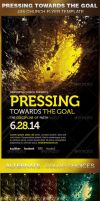 Pressing Towards the Goal Church Flyer Template by loswl