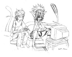 Video Game Addicts by Faullyn