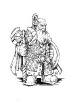 Dwarf warrior by troubadour93