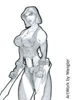 Commission BloodRayne by Wangler