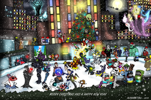 The Fantastic Christmas party 2014 by AlphaBeta90