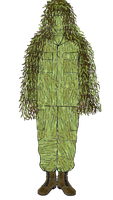 Buckbrush- Camo suit set-Ghillie Cape 'GRASSMAN' by Adyb234
