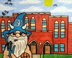 Duke Gnome Cameron Indoor Stadium painted by sampson1721