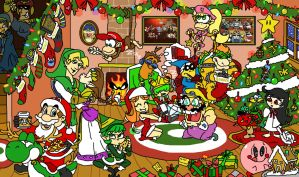 Christmas With Nintendo by HoppyBadBunny