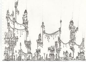 town on sticks by philippajudith