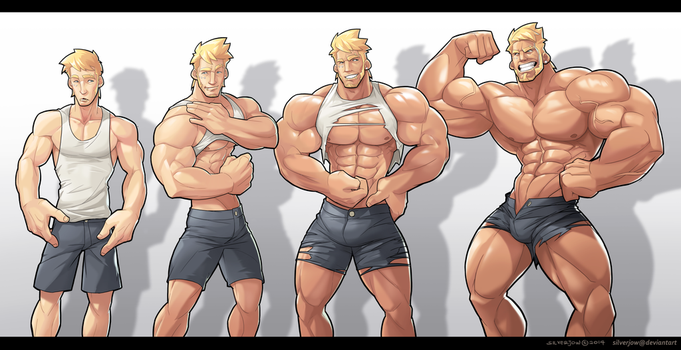 Commission - Muscle Growth Sequence by silverjow