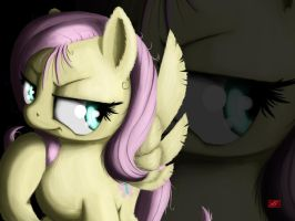 Dark Fluttershy Wallpaper Non-Widescreen by Locolimo
