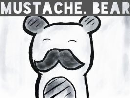 Mustache bear by Wolfy5241