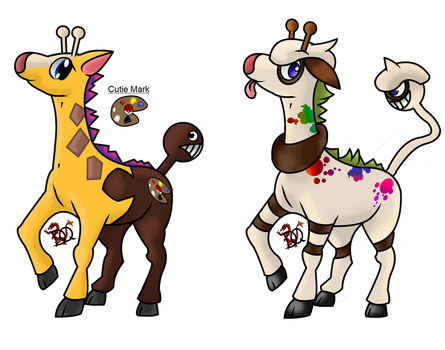 Adopt Girafarig by DraconianQueen