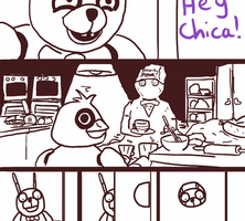 What Chica does in the Kitchen (Animated) by Infernox-Ratchet