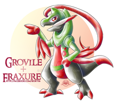 Grovile X Fraxure by Seoxys6