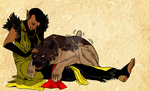 Commissioned: Warden Surana and Cuddles by idleideas