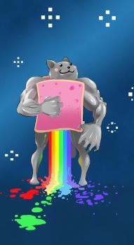 Epic Nyan cat by Otagoth
