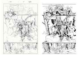 Inking Carlos Pacheco 2 by Alfonso-Pinedo